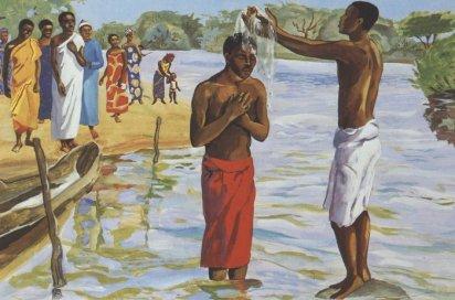 John baptizes Jesus - Matthew 3:13-17