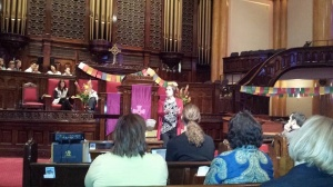 Rev. MaryAnn McKibben Dana, one of our founders, preaching at NEXT.
