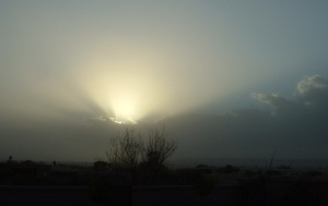 photo by Terri, sun obscured by a sandstorm, Arizona 2009