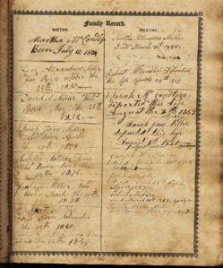 Robert McCandless Family Bible