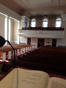 The view from someone else's pulpit.