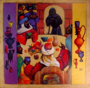 """The Wedding Feast"" by Kazakhstan Artist Nelly Bube."