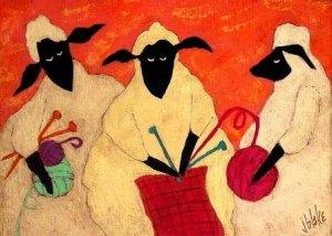knitting sheep