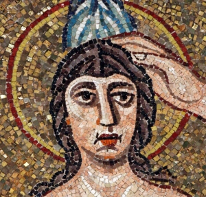 Baptism of Christ, mosaic, detail, from Ravenna Baptistery, from Art in the Christian Tradition, a project of the Vanderbilt Divinity School.l