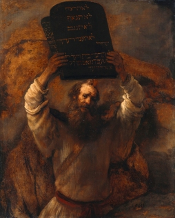 Rembrandt Harmenszoon van Rijn, 1606-1669. Moses with the Ten Commandments, from Art in the Christian Tradition, a project of the Vanderbilt Divinity Library, Nashville, TN.