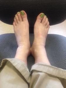 Putting my feet up after a long week.