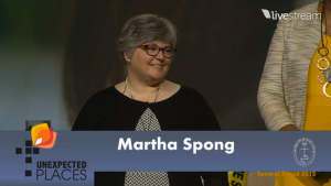 martha accepts antoinette brown award