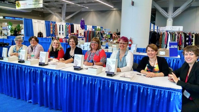 RevGals sign books at UCC General Synod