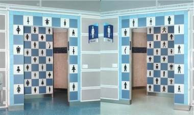 The restrooms at JAX.