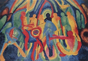 Morgner, Wilhelm, 1891-1917. Entry of Christ into Jerusalem, from Art in the Christian Tradition, a project of the Vanderbilt Divinity Library, Nashville, TN.