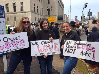 Erin Counihan (left) chooses love.