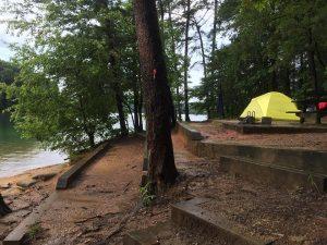lake james campsite