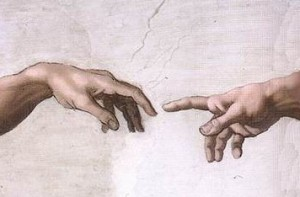 Most popular result in Google image search for Imago Dei - Michelangelo's image of God's hand reaching out to Adam