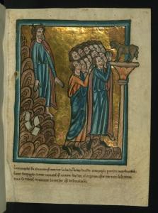 THe Israelites Worship the C=Golden Calf William de Brailes [Public domain or Public domain], via Wikimedia Commons