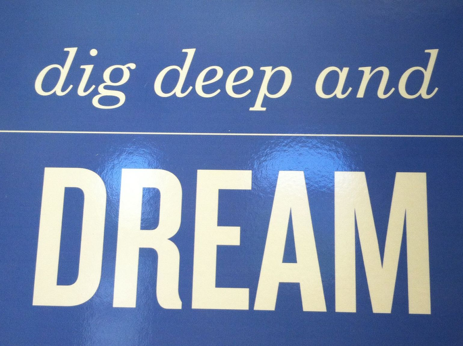 dig deep and dream