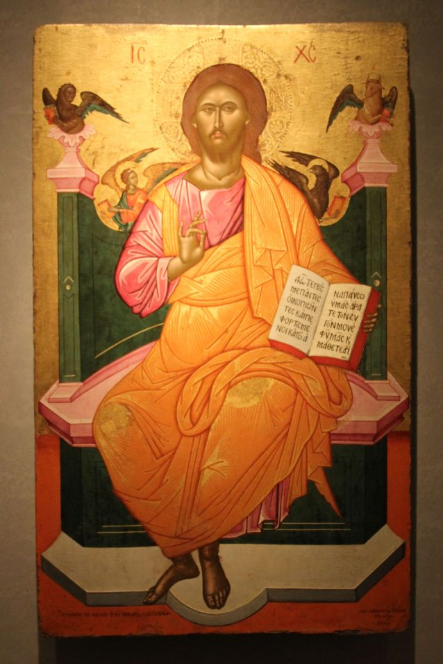 Icon_with_Christ_enthroned._Painted_by_Emmanuel_Tzanes._1664._(8384475988)