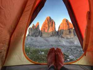 camping environment feet grass