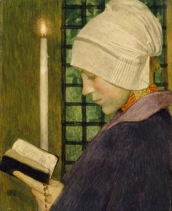 Candlemas Day c.1901 by Marianne Stokes 1855-1927