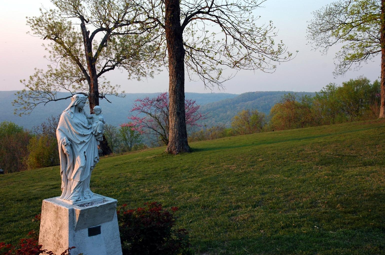 Sewanee statue dusk
