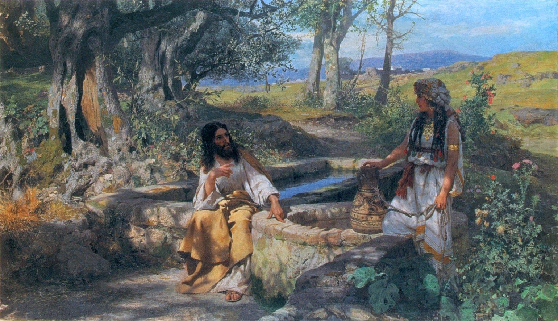 Christ and the Samaritan Woman, Henryk Siemiradzki, 1890 large