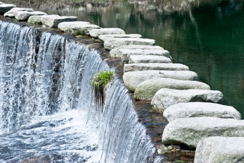 Stepping-stones-river