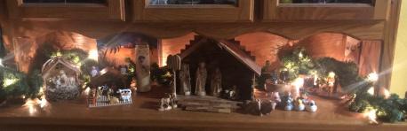 photo of several nativity scenes
