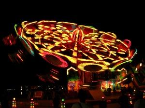 Image of tilting carousel in motion